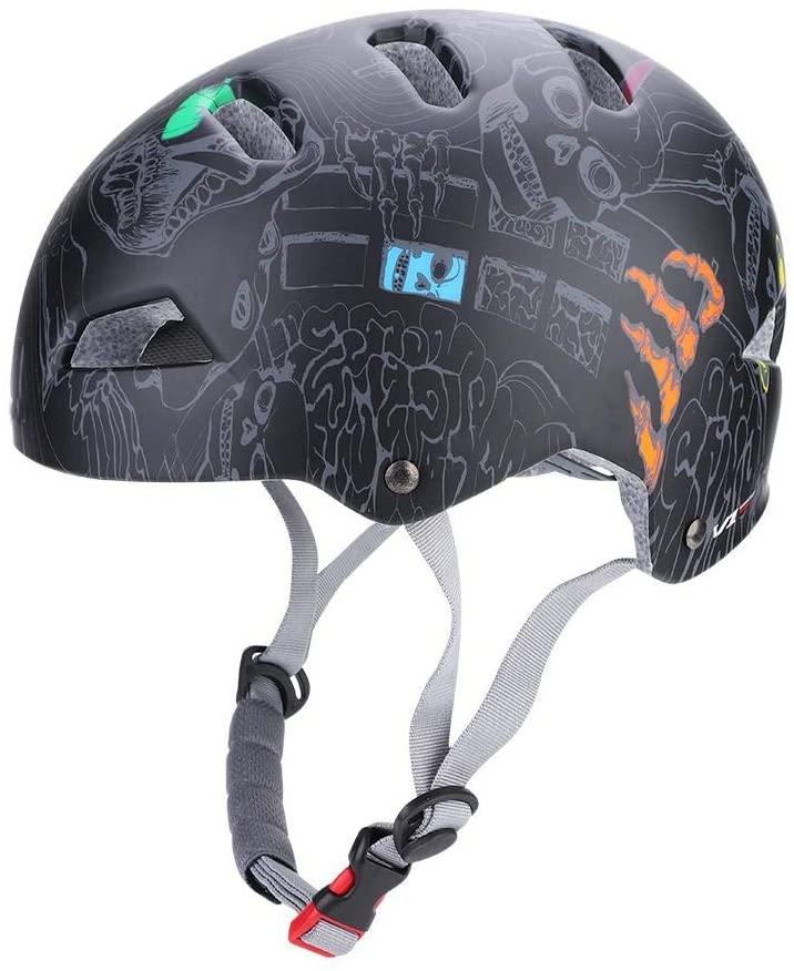 MAGT Climbing Helmet, Adjustable Safety Helmet GUB 3 Colors Outdoor Unisex Adults Cycling Skating Rock Climbing Helmet(M-Black)