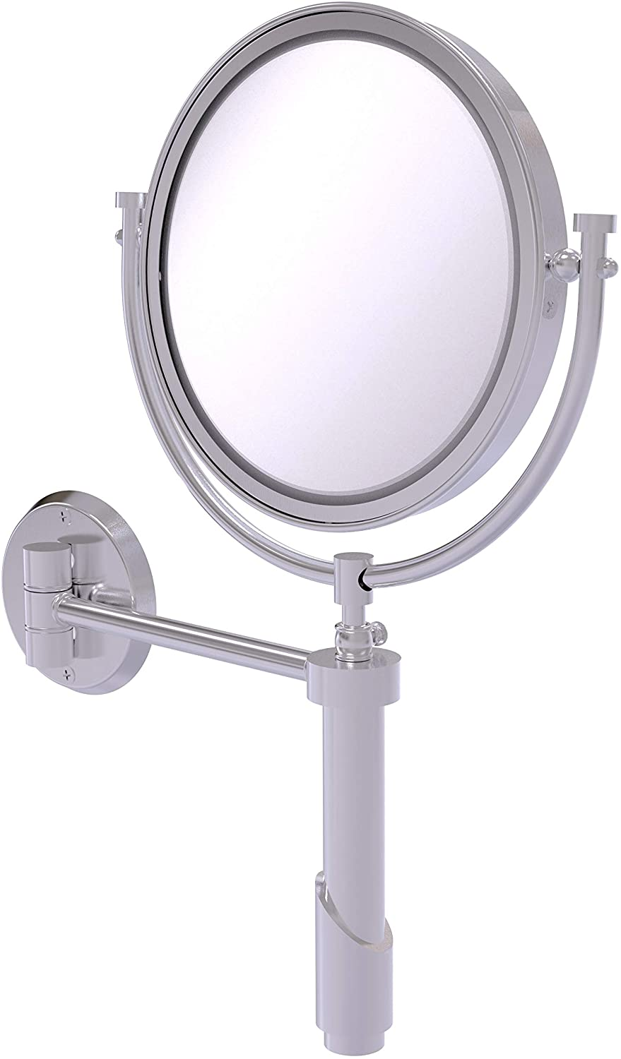 Allied Brass TRM-8/3X Tribecca Collection Wall Mounted 8 Inch Diameter with 3X Magnification Make-Up Mirror, Satin Chrome