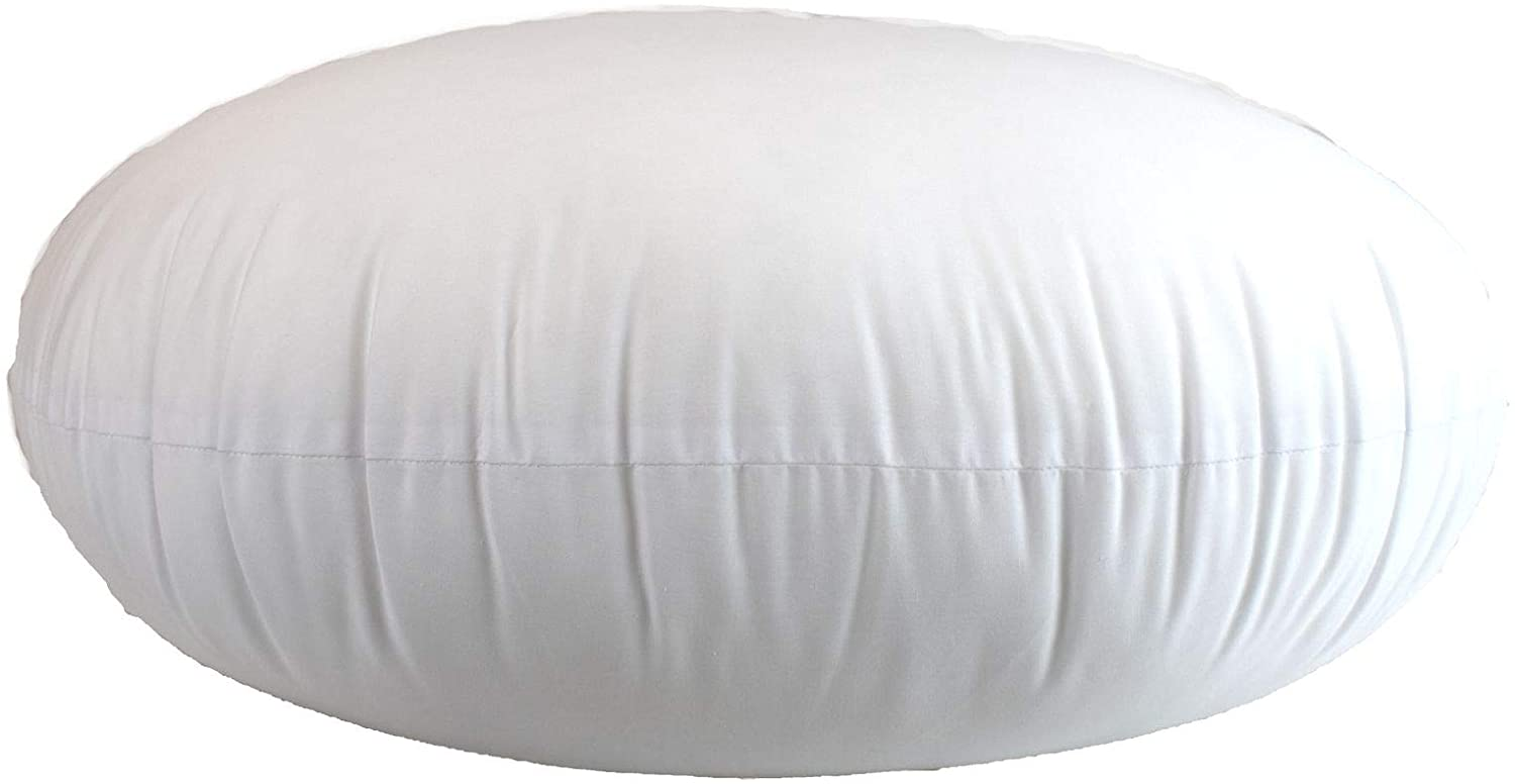 MoonRest Round Pillow Insert Hypoallergenic Polyester Form Stuffer-%100 Cotton Blend Covering for Sofa Sham, Decorative Pillow, Cushion and Bed - 24 X 24 Inch