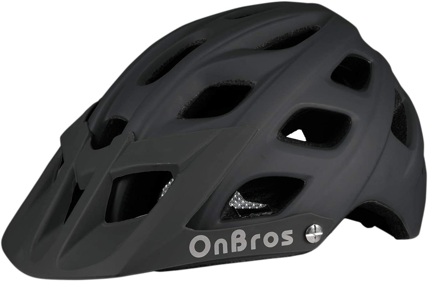 OnBros Mountain Bike Helmet for Adults, MTB Bicycle Helmets with Sun Visor, Lightweight Cycling Helmets for Women and Men, CPSC Certified