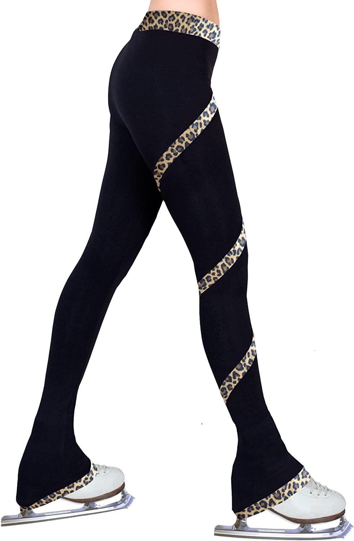 ny2 Sportswear Figure Skating Spiral Polartec Polar Fleece Pants - Cheetah Brown (Adult Medium)
