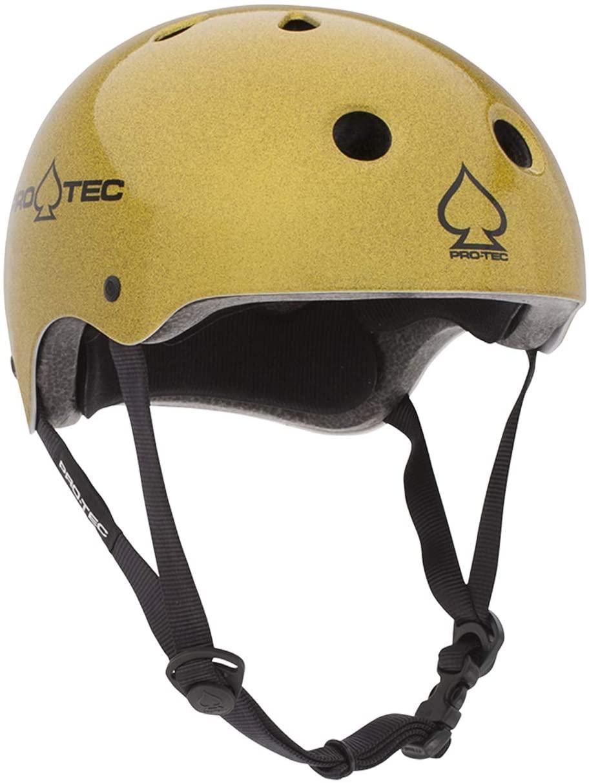 Pro-Tec Classic Skate Flake Helmet Gold L