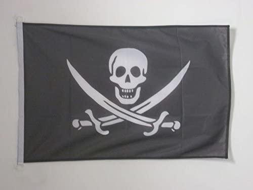 AZ FLAG Pirate Jack Rackham Nautical Flag 18'' x 12'' - Pirates Flags 30 x 45 cm - Banner 12x18 in for Boat