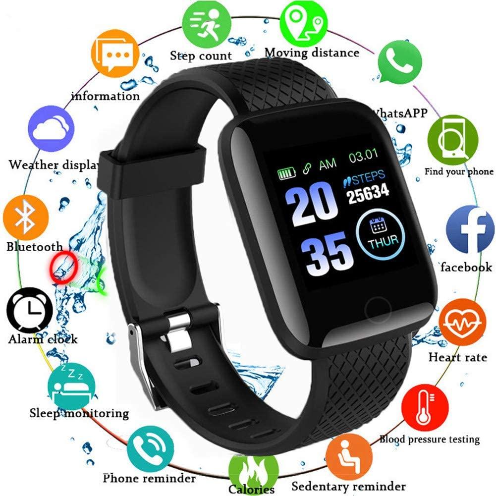 FANZHOU 116 Plus Bluetooth Smart Bracelet Fitness Tracker with Heart Rate Activity Tracking Sleep Monitoring Blood Pressure Waterproof Smart Watch for Women Men Kids