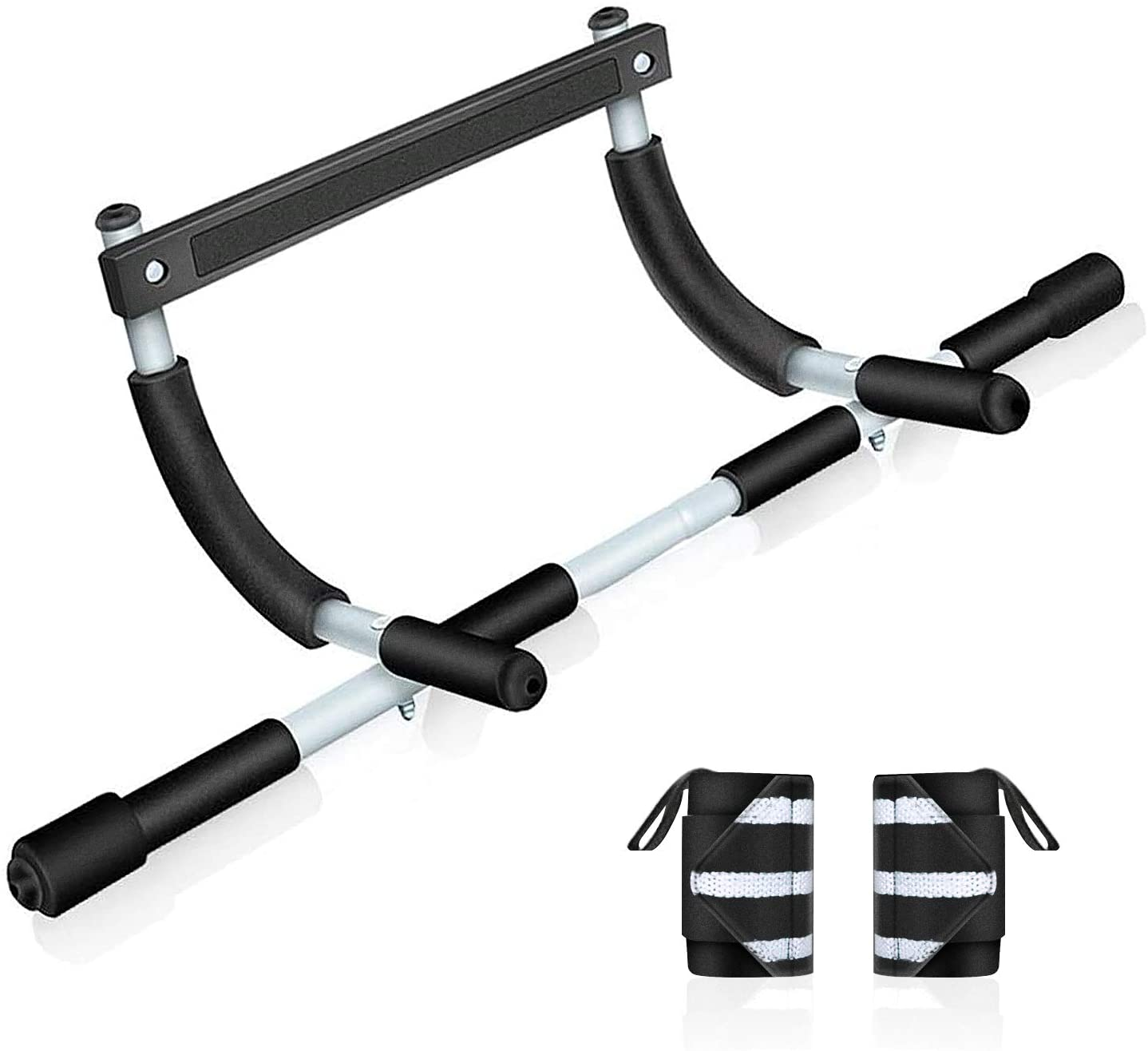 BZK Pull Up Bar for Doorway - Multifunction Chin Up Bar Strength Training Equipment for Home Gym Exercise