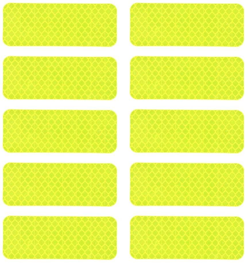 IMIKEYA 10pcs Waterproof Reflective Stickers Bike Motorcycle Safety Warning High Intensity Reflector Decals (Blue)