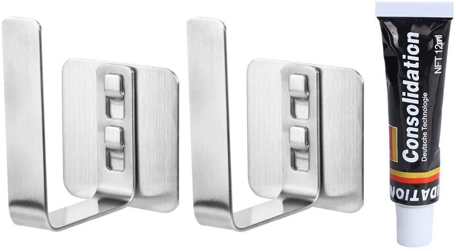 OhhGo 2pcs Wall-Mounted Chopping Cutting Board Rack Pot Lid Storage Holder Kitchen Supplies