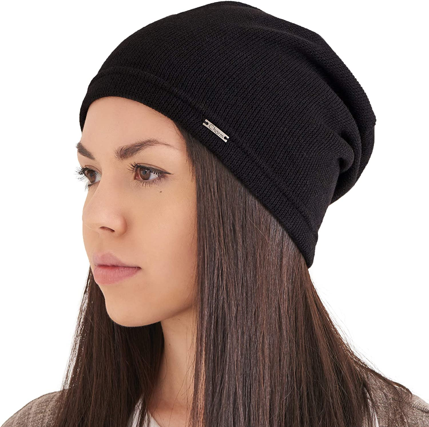 CHARM Womens Fall Slouchy Beanie - Mens Lightweight Korean Slouch Fashion Hipster Hat