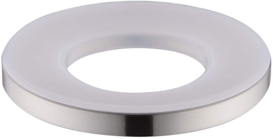 Bathroom Brass Mounting Ring for Vessel Sink, by SINKINGDOM (Brushed Nickel)