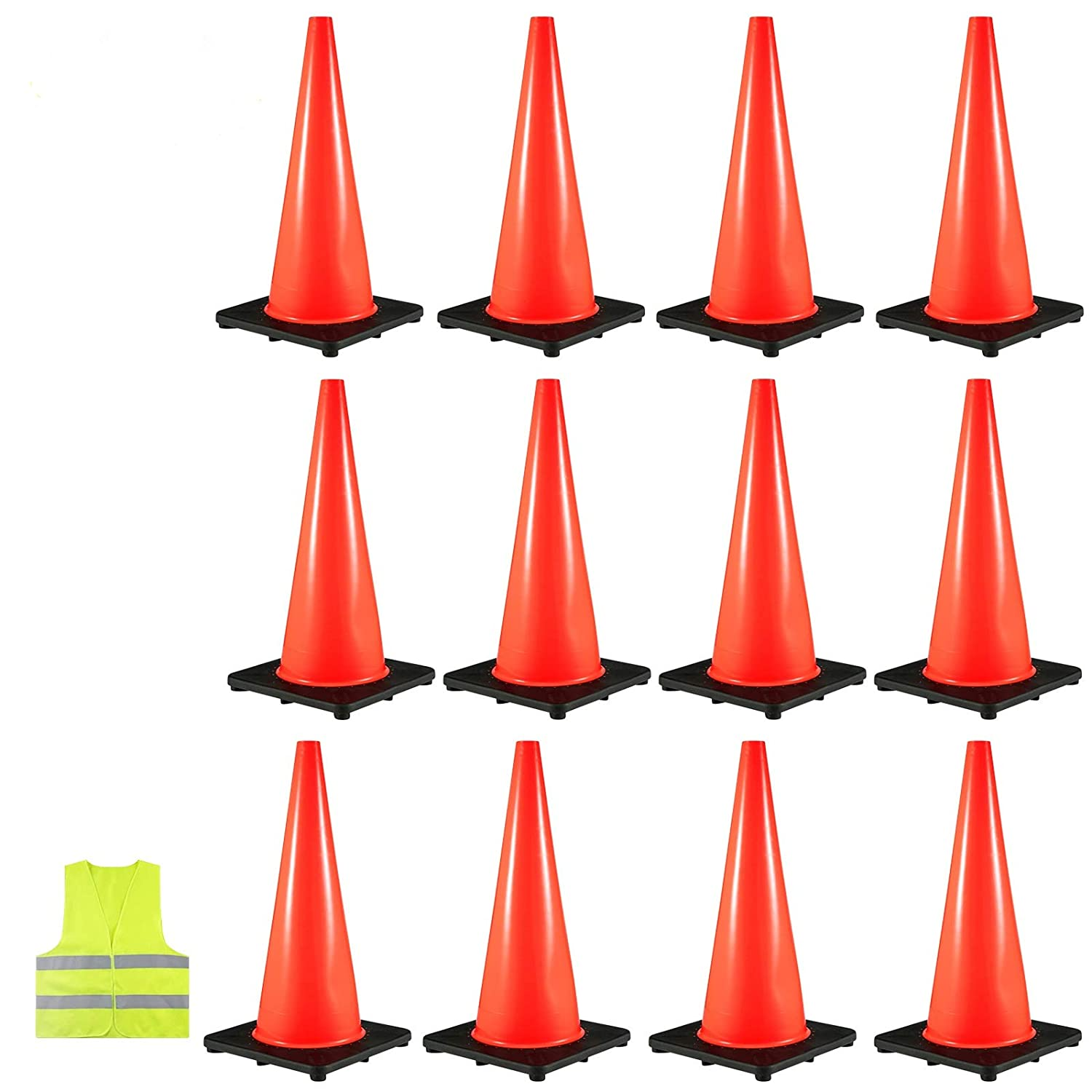 VEVOR 12PCS Traffic Cones, 18