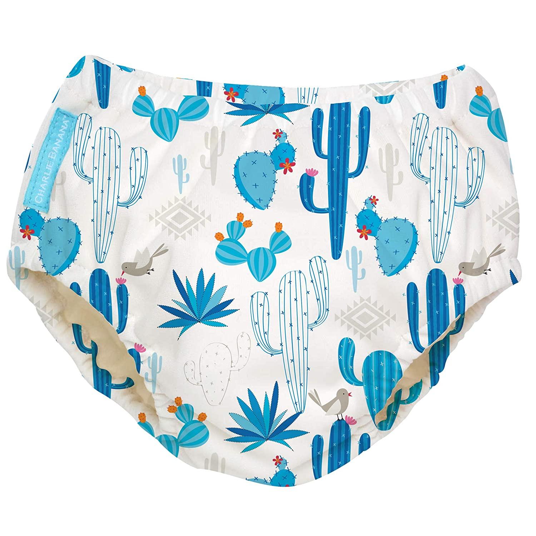 Charlie Banana Reusable Swim Diaper Cactus Azul Large