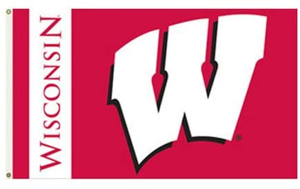 University of Wisconsin - 3' x 5' NCAA Polyester Flag