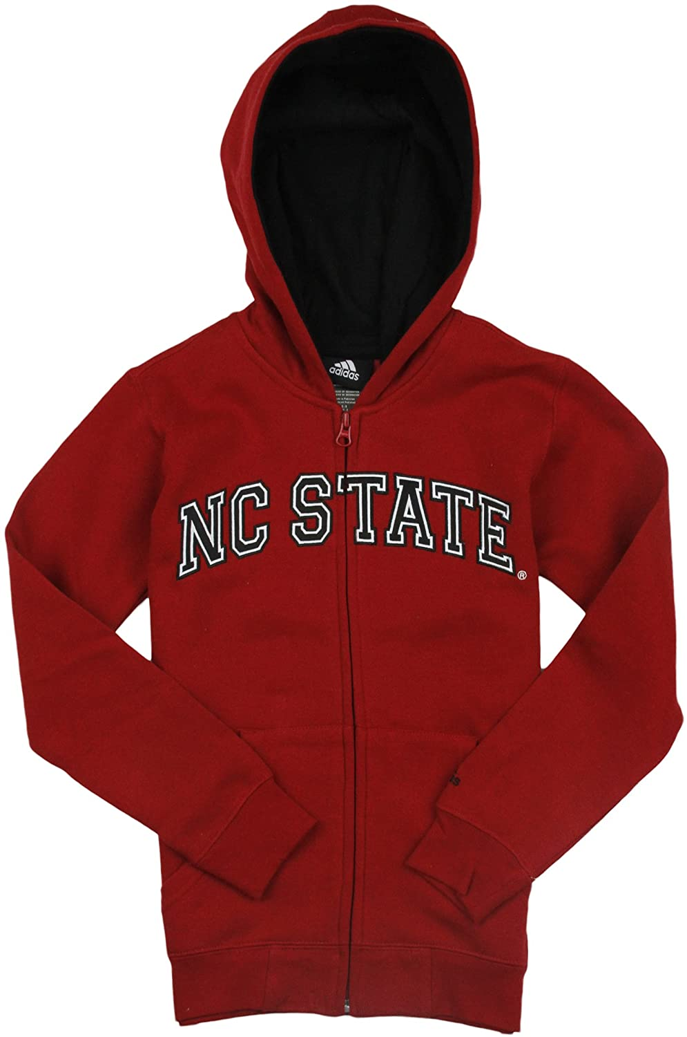 adidas North Carolina State Wolfpack NCAA Boys Youth Full Zip Hoodie - Red