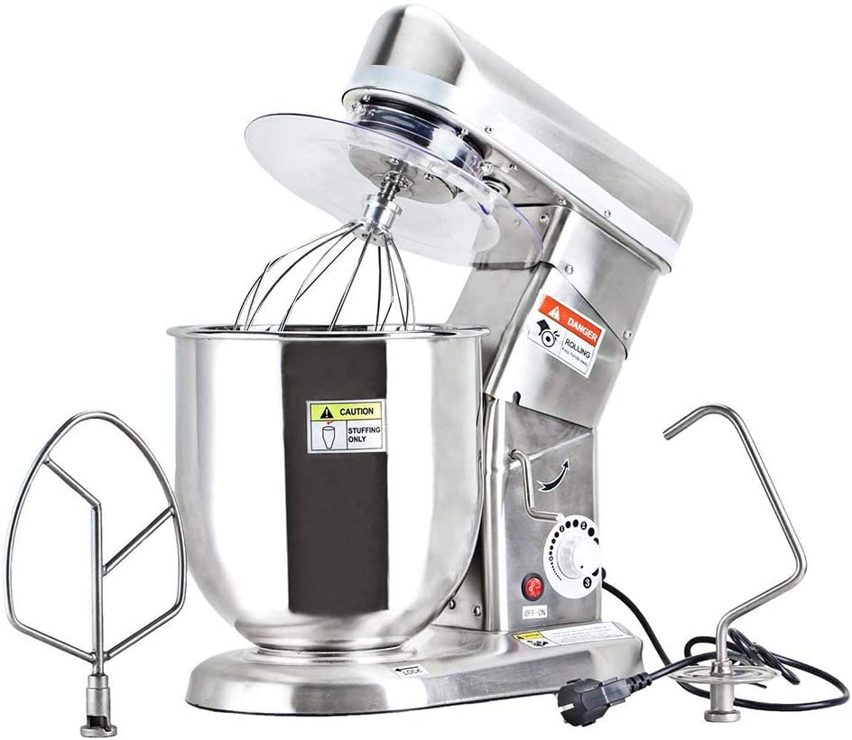 SQINAA Stand Mixer, 500W Kitchen Food Mixer with 3 Speed and Pulse, Home Mixer Stand Up with Stainless Steel Bowl,Dough Hook, Whisk, Beater, Meat Blender,Capacity 5L