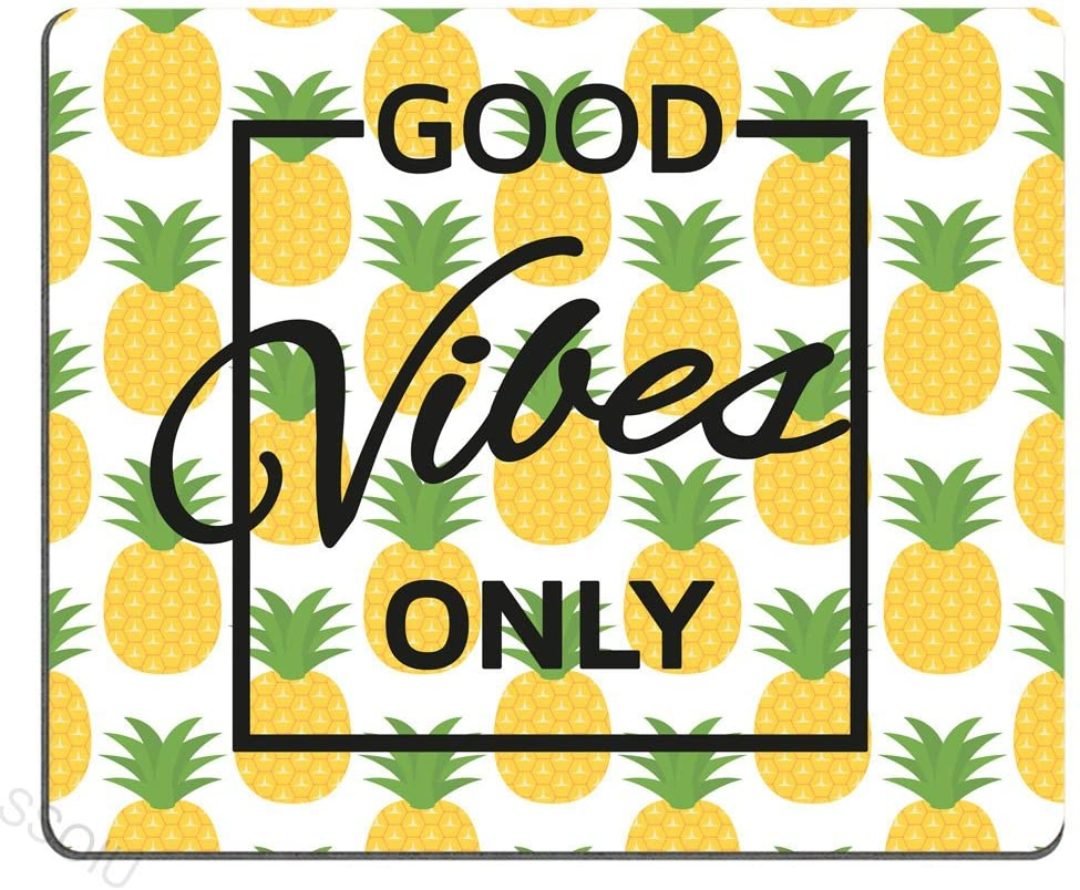 Good Vibes Only Pineapple Motivational Sign Inspirational Quote Mouse Pad Personalized Gaming Mouse mat