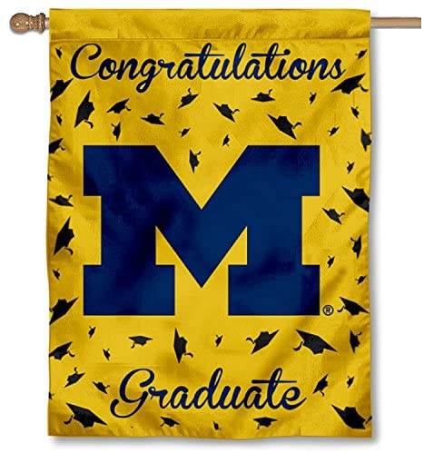 College Flags & Banners Co. Michigan Wolverines Graduation Gift Banner Flag