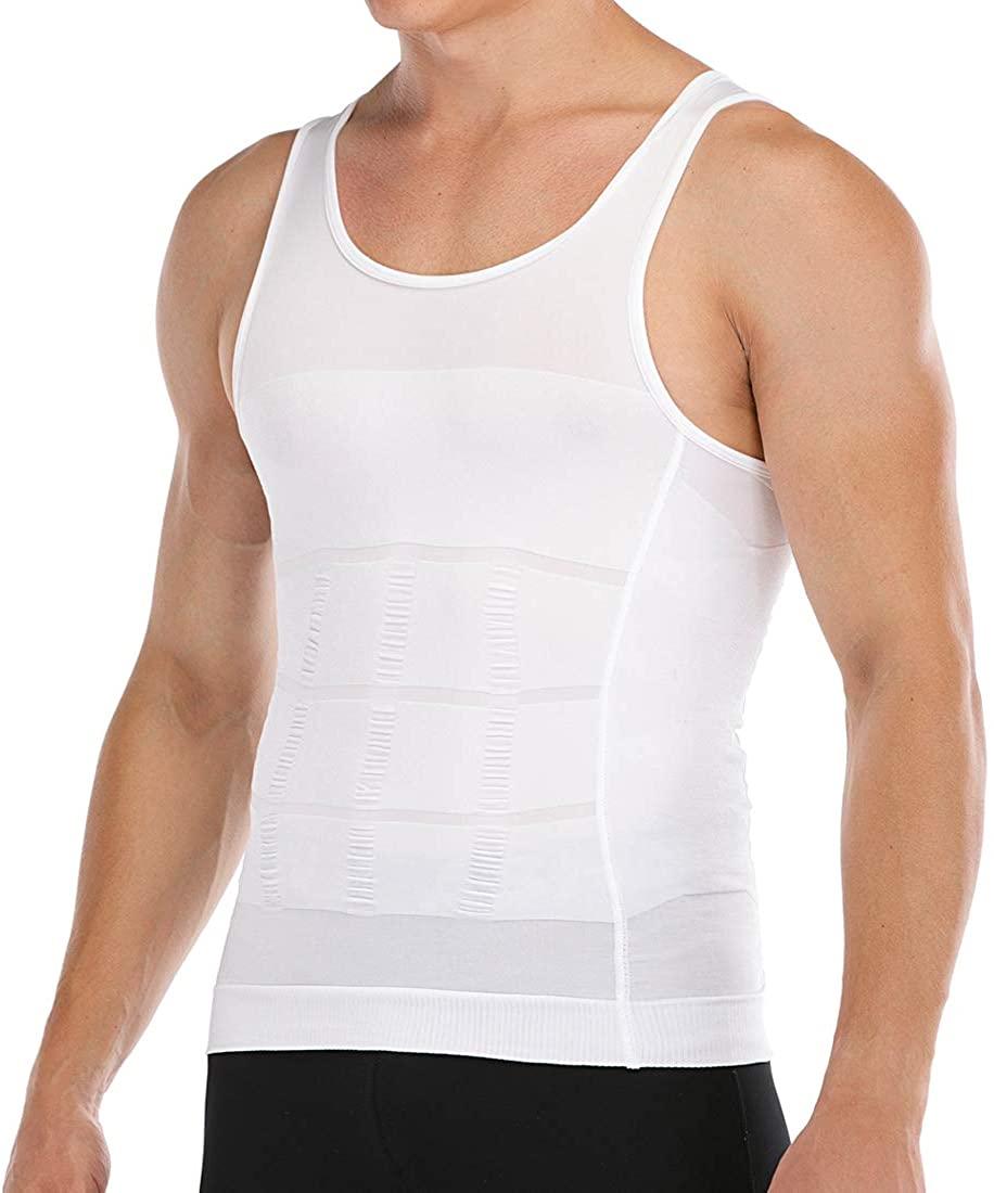Men's Slimming Body Shaper Vest Abs Abdomen Slim Compression Shirt Elastic Tank Top Undershirt