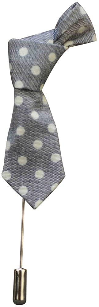 Ainow Vintage Mens Double Button Leaf Suit Lapel Stick Pin Brooch