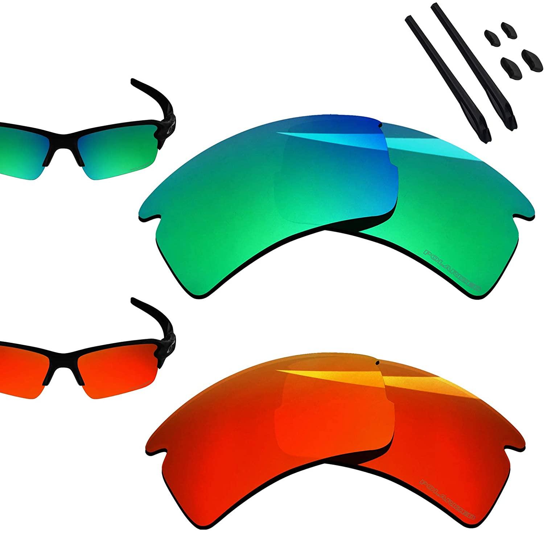 BlazerBuck Polarized Replacement Lenses for Oakley Flak 2.0 XL OO9188-2 Pairs