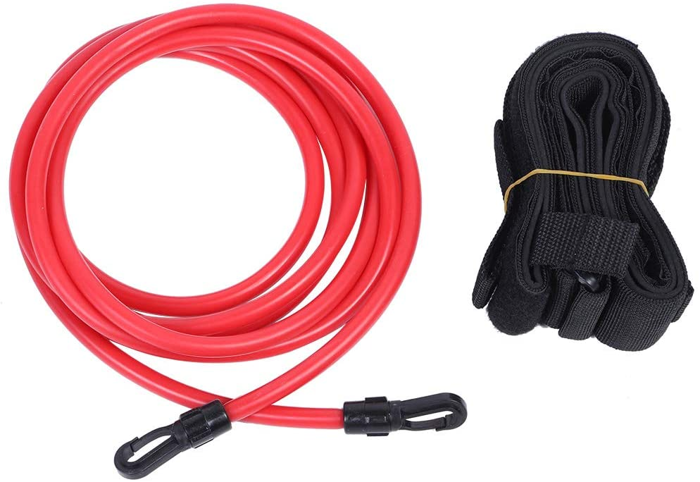 Ruiqas Swim Training Belt 3 Meters Swimming Resistance Belt Exerciser Belt Kit Training Rope with Storage Mesh Bag for Adult Children