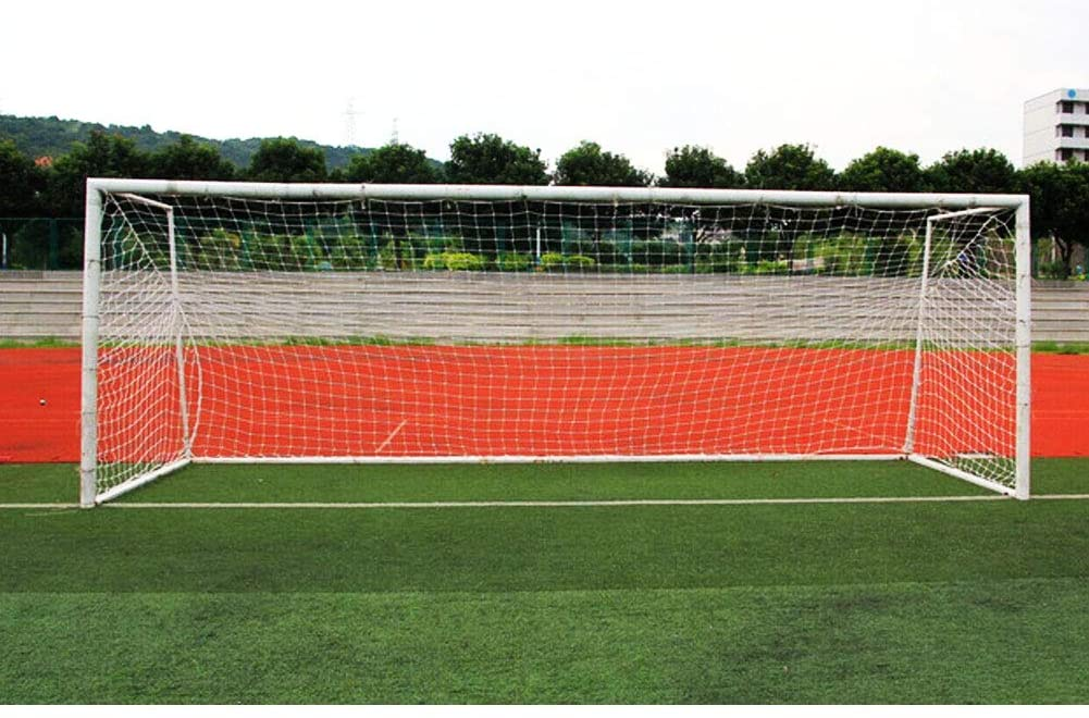 Ruiqas Soccer Replacement Goal Nets, Durable Thickened Football Net Field Equipment for Outdoor Football Training Standard Size 186.9ft White
