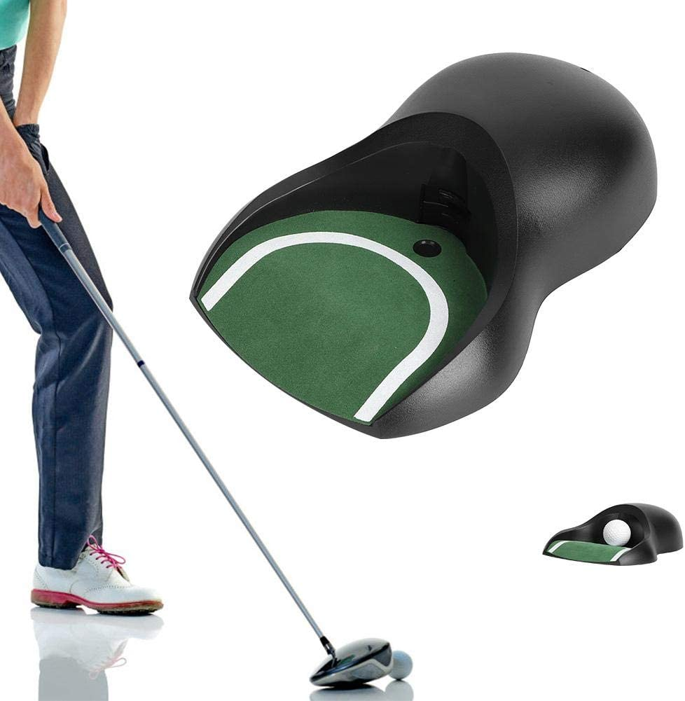 awstroe Putting Green Indoor | ABS Plastic Lightweight Automatic Putter Trainer Portable Golf Electric Putting Return Machine for Training,Ideal Gift for Golfer.
