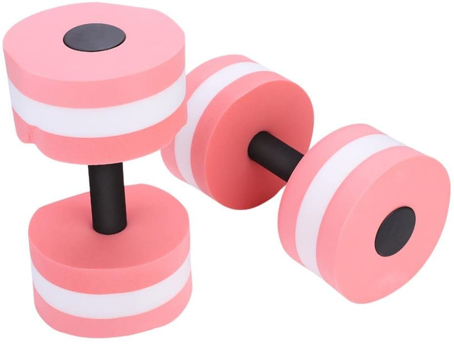 VGEBY 1Pair Aquatic Exercise Dumbbells, Water Aerobics Dumbbells for Therapy, Workouts, Pool Exercise, Aqua Training