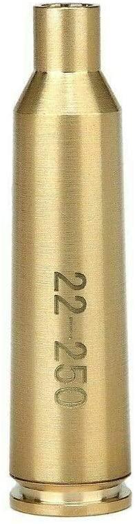 MY Laser Bore Sighter .22-250 REM Cartridge Red Dot Boresighter, Brass