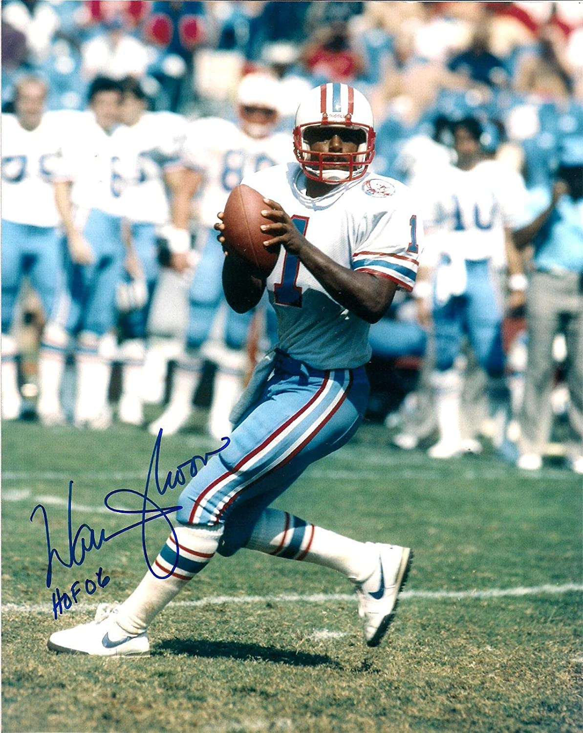 Warren Moon Houston Oilers Hof 06 Autographed Signed 8x10 Photo W/coa - Autographed NFL Photos