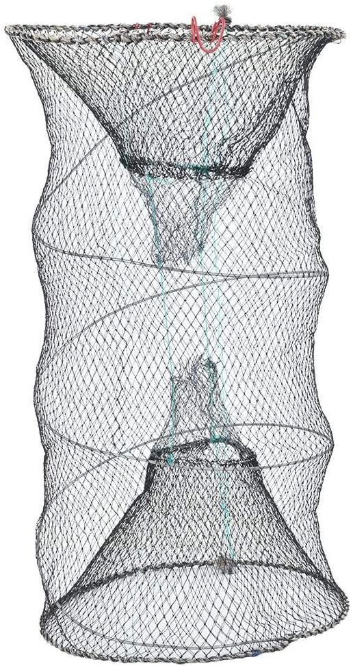 VGEBY1 Shrimp Bait Trap, Foldabe Fishing Cage Trap Bait Lobster Crawfish Collapsible Fishing Bait Net