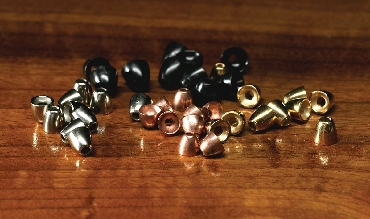 Hareline Dubbin Large Black Tungsten Cones