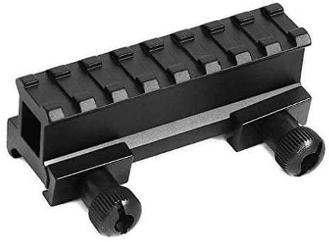360 TACTICAL 1 inch See Through Riser Rail Riflescope Sight Weaver-Picatinny Rail 8 Slots