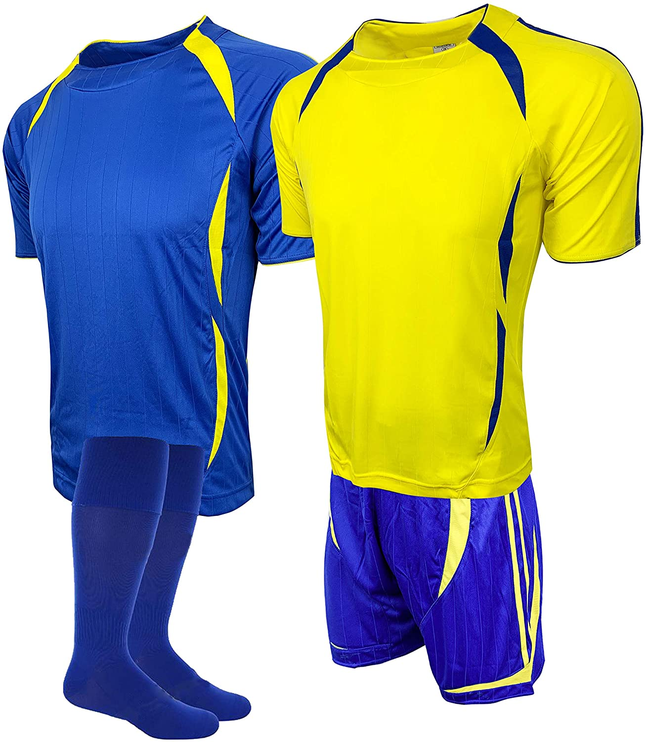 Soccer Uniforms for Teams, 4pcs Set (Two Jerseys, One Short and One Pair of Socks)