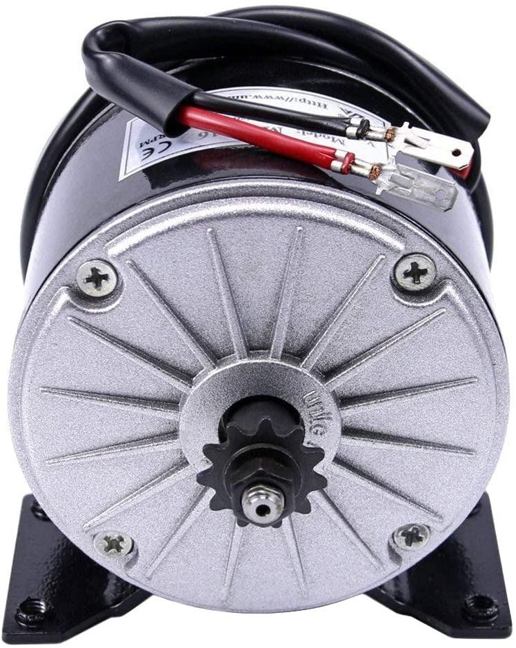 JCMOTO 36V 350W Brush Motor For Electric Go Kart Scooter E Bike Motorized Bicycle ATV Moped Mini Bikes | #25 Chain - 11 tooth sprocket