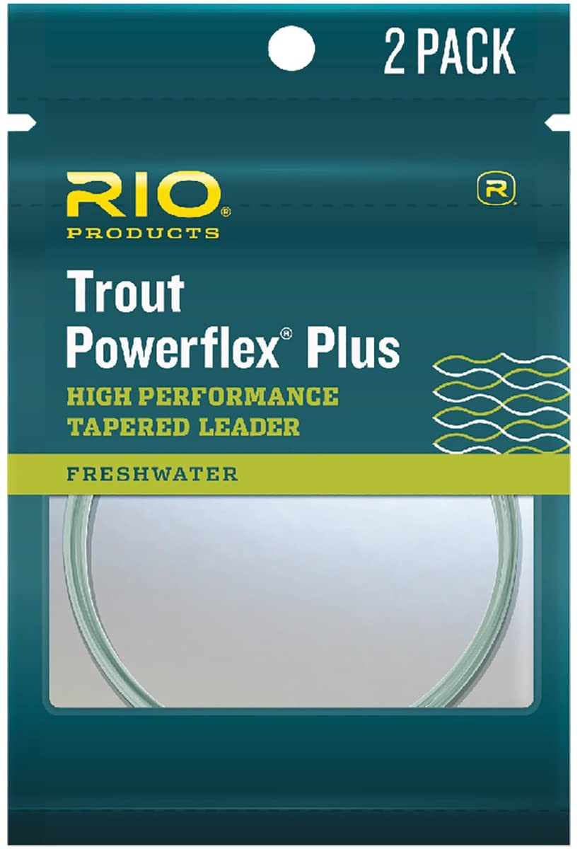 RIO POWERFLEX PLUS 7.5FT 1X LEADER 2-PACK