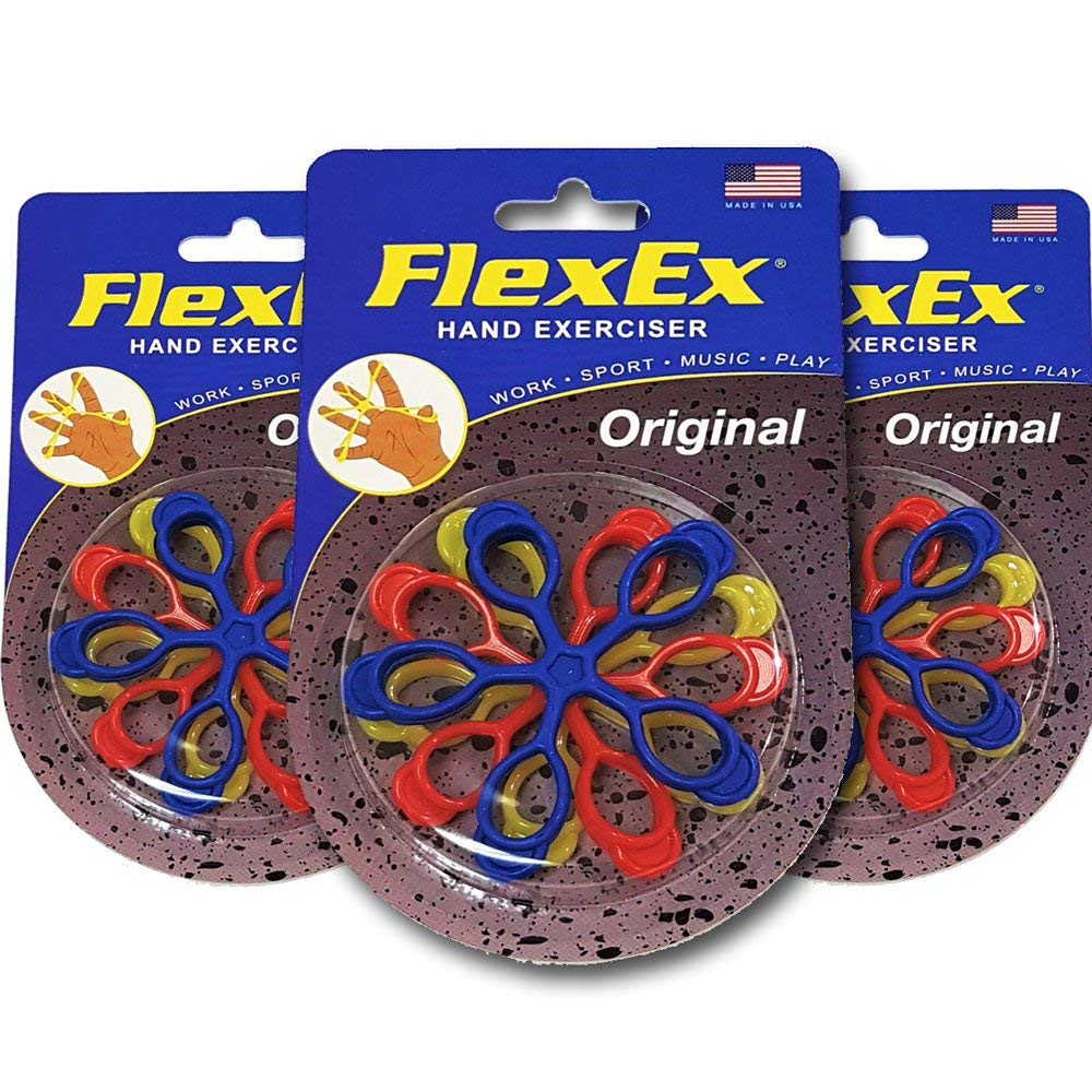 FlexEx Hand Exerciser - Triple Pack, Made In USA