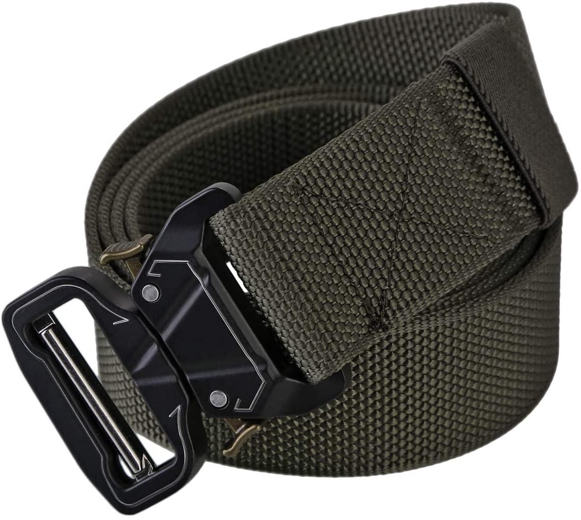 SOONHUA Quick Release Buckle Outdoor Belt Nylon Quick-Release Metal Buckle Belt for 1.5in Wide Training Belt