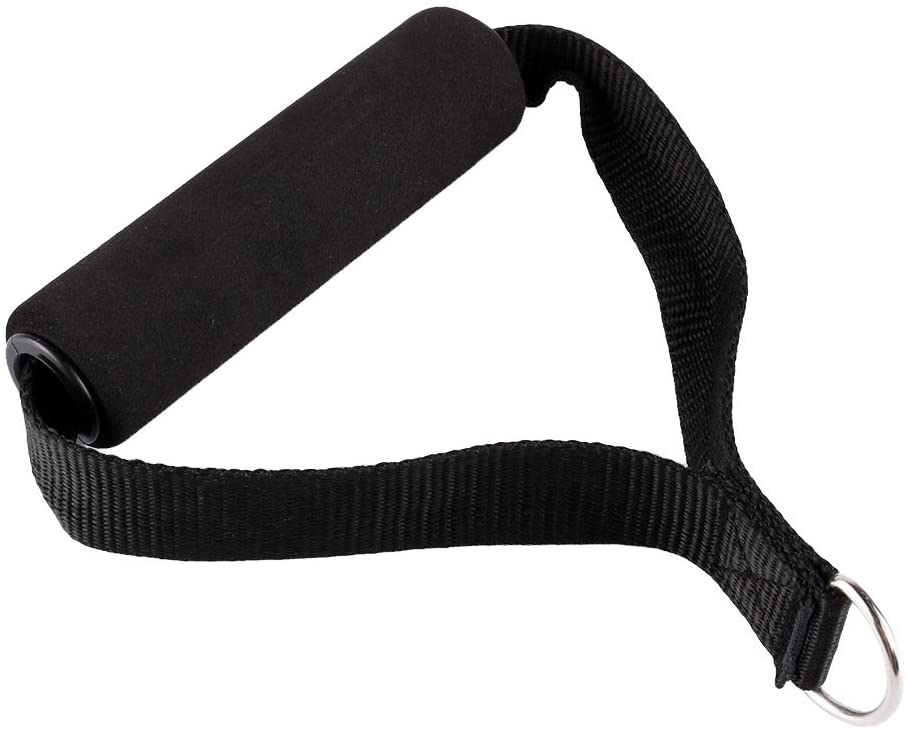Yosoo 2Pcs Tricep Rope Cable Attachment Bar Dip Station Resistance Band Exercise