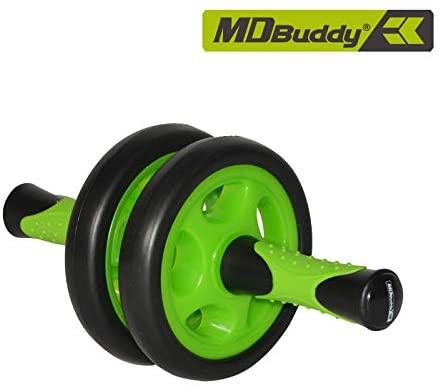 MDBuddy Dual Wheel Ab Roller Mute Abdominal Core Trainer Equipment Home Gym Workout