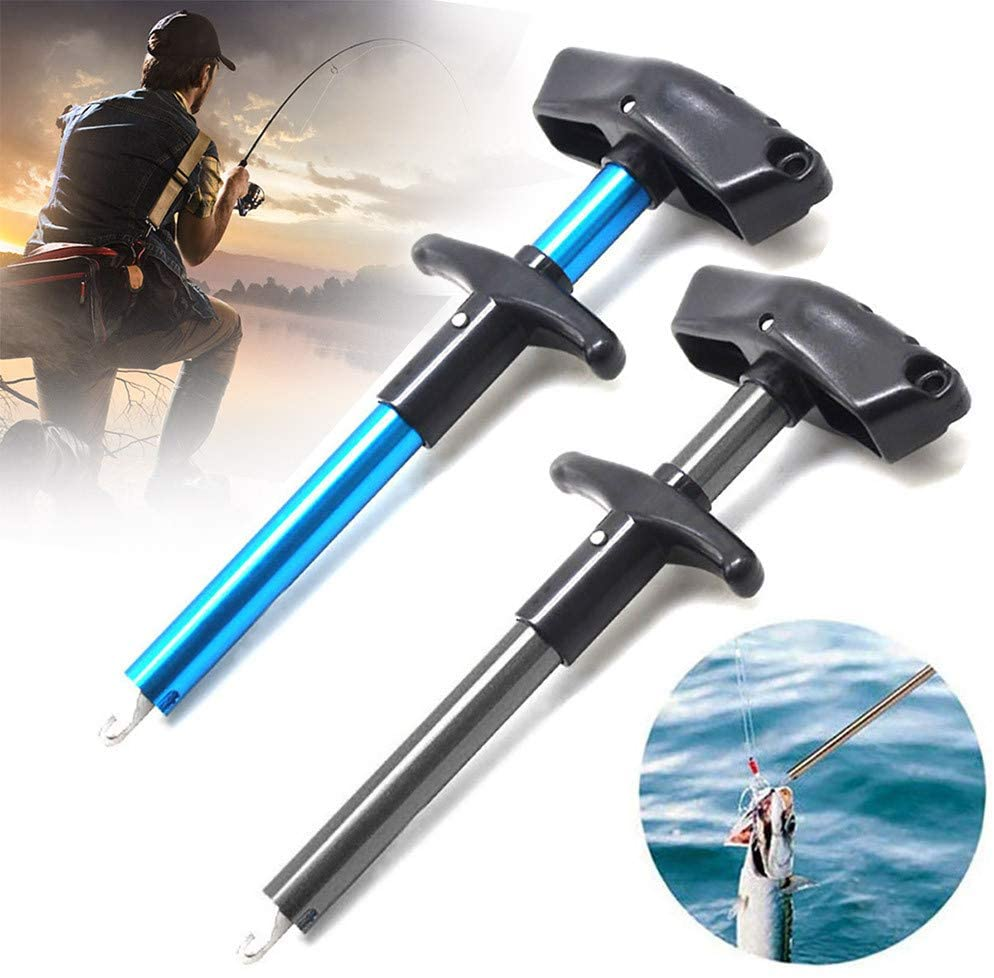 Wenjuan Fish Hook Remover | 2 Pieces T-Shaped Hook Puller Fish Hook Separator | Squeeze-Out Fish Hook Separator Tools | Portable Aluminum Fishing Hook Hand Tool Fishing Tool