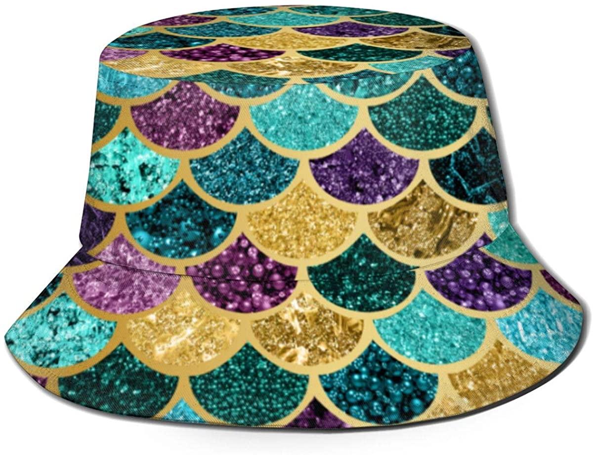 Hats for Men Outdoors Bucket Hat Fish Cap Men Wide Brim Sun Hat,Colorful Music Notes Bling