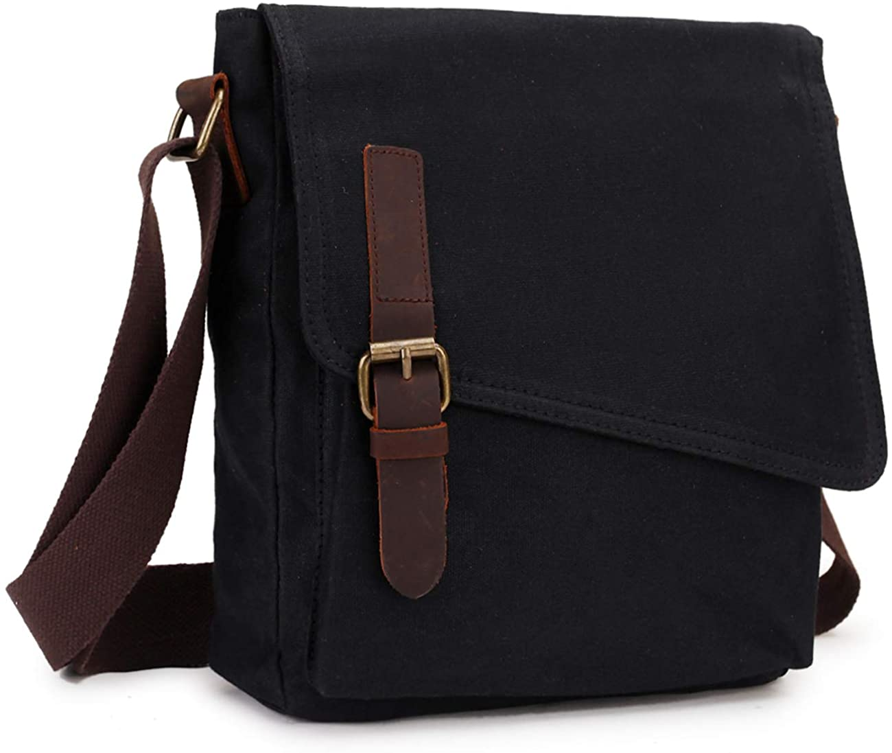 Small Messenger Bag,VONXURY Water Resistant Shoulder Bag Canvas Crossbody Purse for Women Men