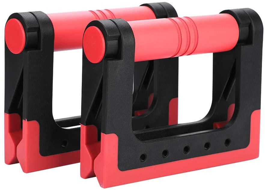 OhhGo 2Pcs Multifunction Push Up Stands Handles Bars Abdominal Trainer Gym Fitness Training(Black + Blue)