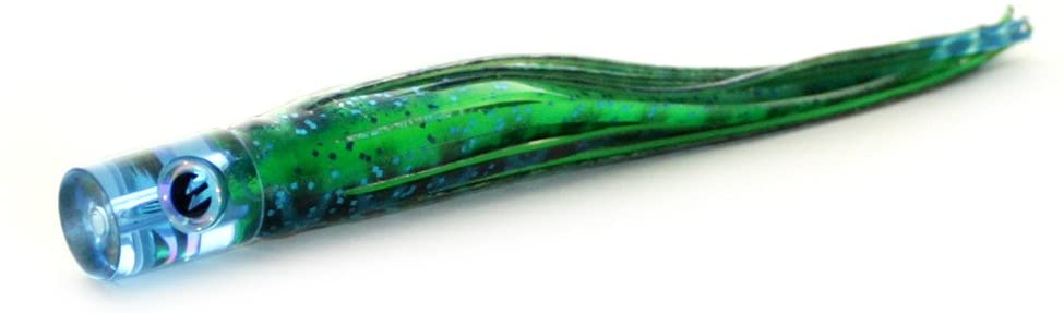 Epic Fishing Co Flat Faced Soft Offshore Trolling Lure (Translucent Blue w/Mahi Skirt)