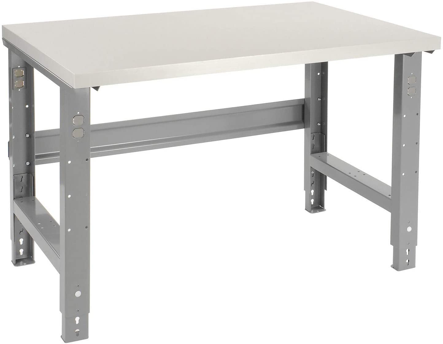 Adjustable Height Workbench C-Channel Leg, Plastic Laminate Square Edge, 48