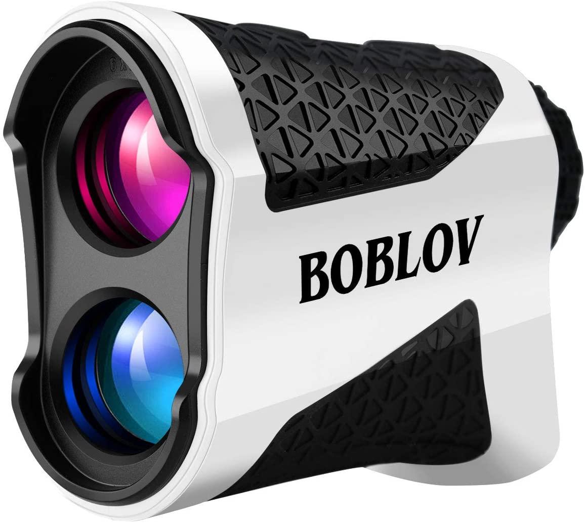 BOBLOV Rangefinder Golf with Slope, Golf Rangefinder, 650 Yards with Slope Adjustment, 6X Magnification Rangefinder with Flag-Lock with Vibration Distance/Speed/Angle Measurement
