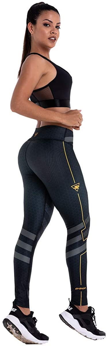 Drakon Colombian Workout high Waisted Leggings for Women | Compression Tight Crossfit Yoga Pants Many Styles
