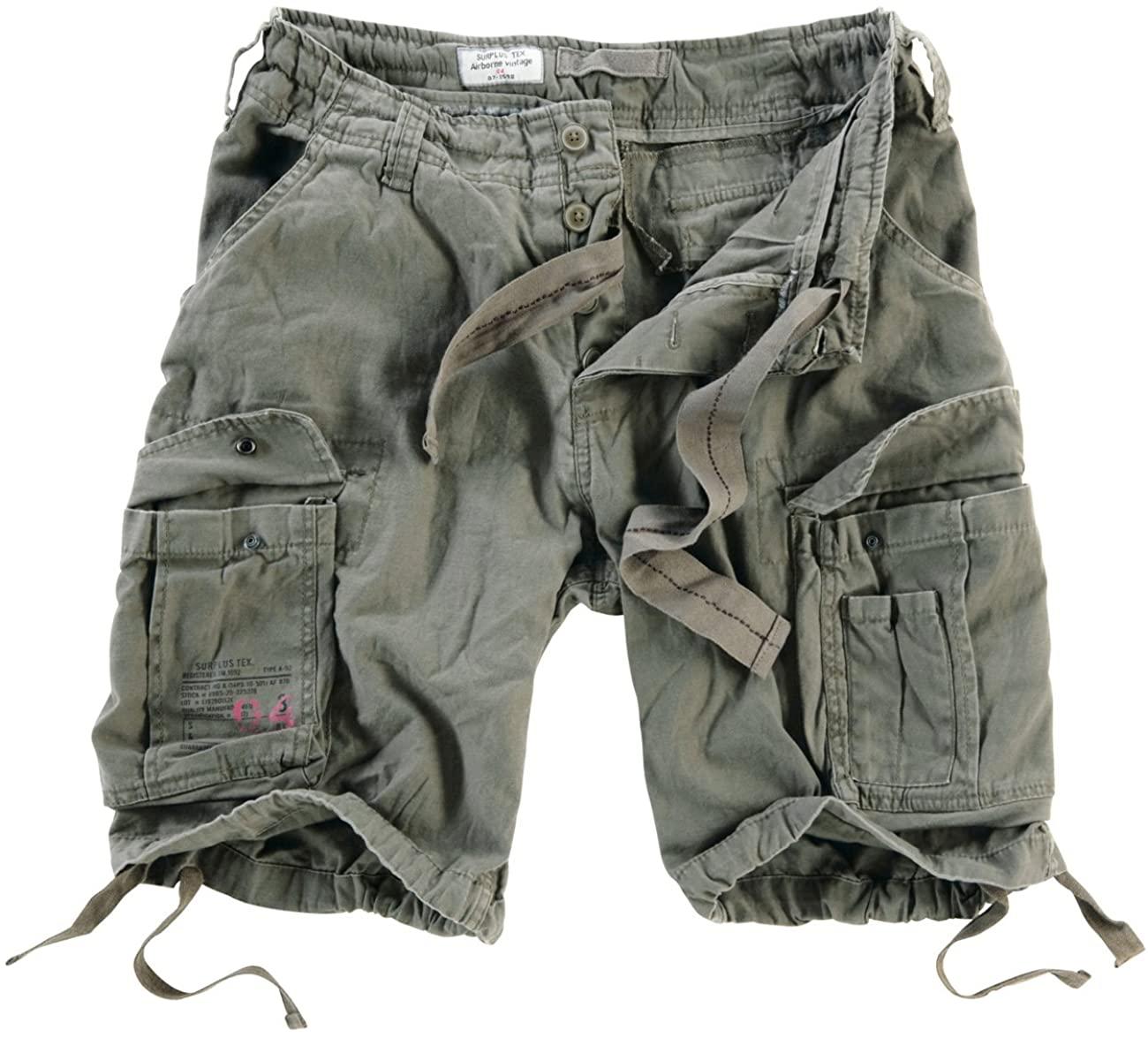 Surplus Men's Airborne Vintage Shorts Anthrazit