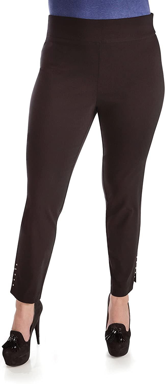Fundamental Things Tummy Control Slim Leg Pant Pull-On, Black Size 14P