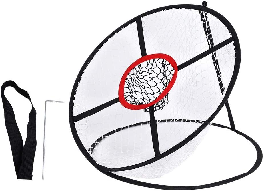 Golf Chpping Net Two Layers Pop-Up Indoor Outdoor Golf Training Practice Target Chipping Net